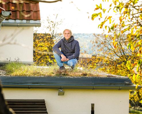Extensive Dachbegrünung als Dämmung
